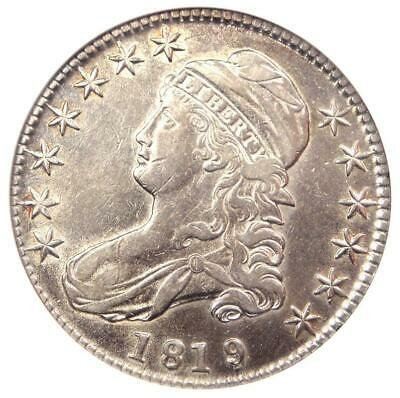 1819/8 Capped Bust Half Dollar 50C O-101 - ANACS XF45 Details - Rare Coin!