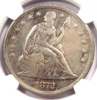 1872 Seated Liberty Silver Dollar $1 - NGC XF Details - Rare Certified Coin!