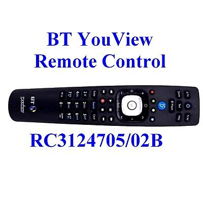BT YouView Remote Control RC3124705/02B 2017 Model UK Seller Grade B