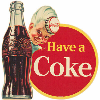 Coca-Cola Have a Coke Disc Sprite Boy Wall Decal 24 x 24 Vintage Style Kitchen