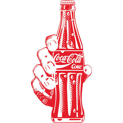 Coca-Cola Red Bottle In Hand Pop Art Decal 12 x 24 Coke Kitchen Wall Decor