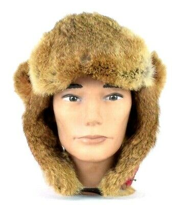 701a7df19948e9 Mad Bomber Red Rabbit Fur Trapper Hat Winter Cap Aviator Pilot Unisex Size  XL