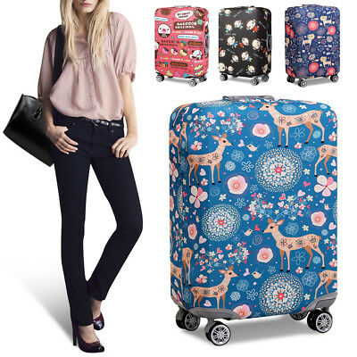 Elastic Travel Luggage Cover Suitcase Protector Bag Dustproof Sika Deer S/M/L/XL