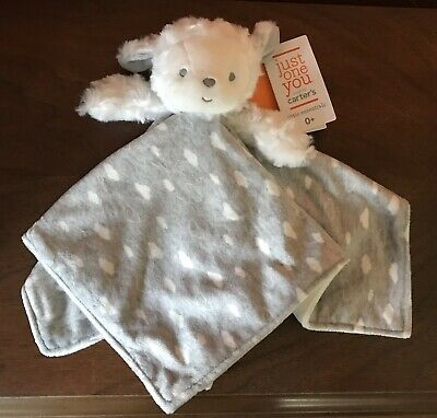 69bb91fc2 NWT Carters Just One You White Lamb Gray Security Blanket Target Lovey