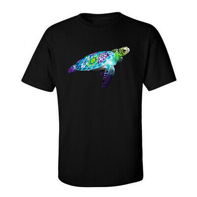 Marine Life, Flower Turtle Ocean Graphic Funny Generic Novelty Unisex T-Shirt