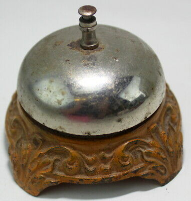 Desk Hotel Bell Cast Metal Antique Ornate