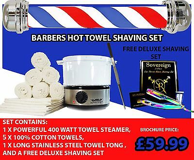 Barber Shop Towel Warmer .Towel Sterilizer  Cabinet With Free Deluxe Shaving Set