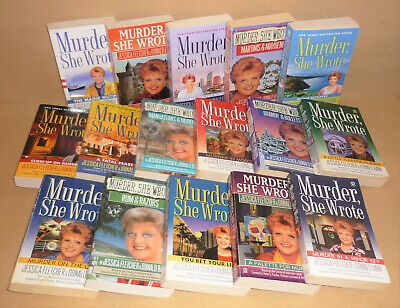 16 MURDER SHE WROTE lot FATAL FEAST, IN MOSCOW, ON THE QE2, IN A MINOR KEY, more