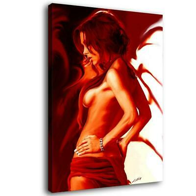 """12""""x16""""Naked girl sideways Painting HD Canvas Print Home Decor Wall Art Picture"""