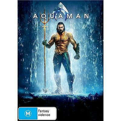 Aquaman, NEW, AUTHENTIC REGION 4 DVD 2019, JASON MOMOA