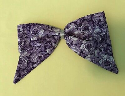Purple & White Floral Sparkle Sailor Hair Bow,girls Kids, Baby, Child,thin Style