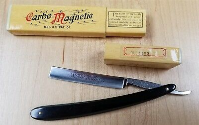 "Vintage Griffon XX ""Carbo Magnetic"" Straight Razor Etched Blade Box"