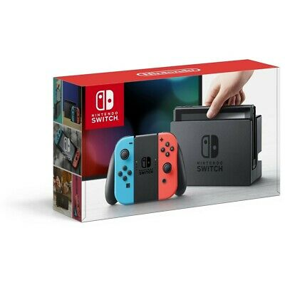 NEW IN BOX & SEALED Nintendo Switch Neon Blue and Red Joy‑con Console