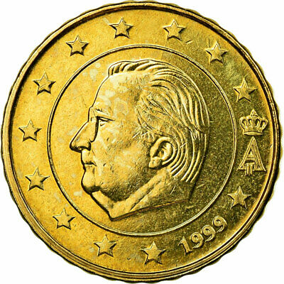 [#722464] Belgien, 10 Euro Cent, 1999, VZ, Messing, KM:227