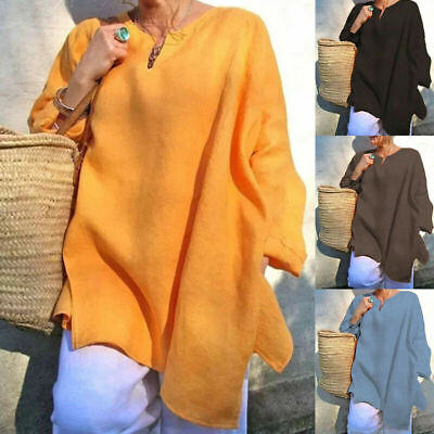 Plus Size Womens Loose Baggy Tops Ladies Long Sleeve Casual Tunic T Shirt Blouse