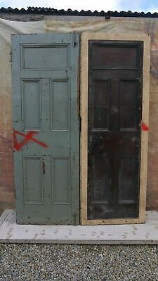 XPD21 (58 x 82 1/4) Reclaimed Pair of Old External Pitch Pine Period Doors