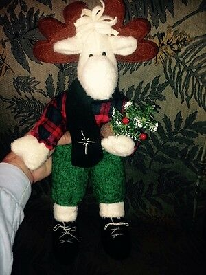 "17"" Country Moose Stuffed Animal Christmas"