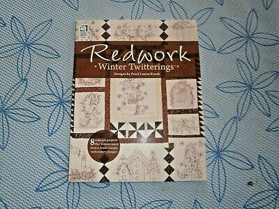 Redwork ( Winter Twitterings ) by Pearl Louise Krush 8 redwork projects