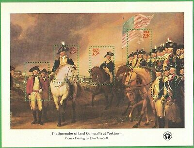1976 American Bicentennial Souvenir Sheets, Set of 4 Sheets, Scott 1686 to 1689
