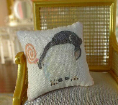 Lovely Cute Penguin & Candy Dollhouse Miniature 1/12 Scale Pillow