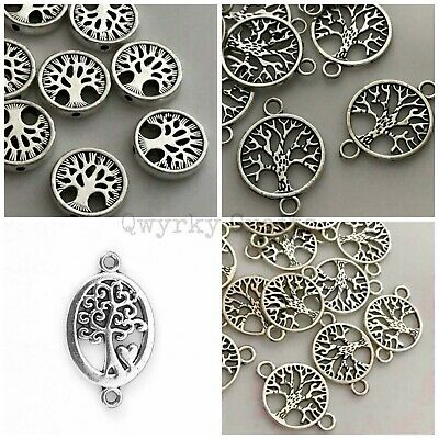 5/10pcs Antique silver Tibetan connector links charms beads double sided