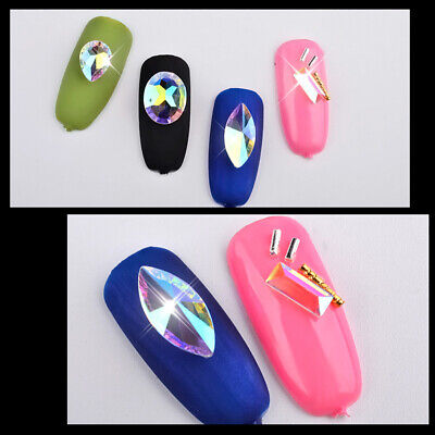Nail Art Wheel AB Rhinestone Crystal Gems Glitter 3D Tips Decoration Accessories