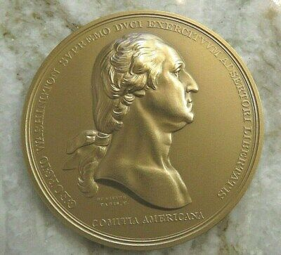 US MINT LARGE BRONZE MEDAL General George Washington Before Boston #401 70 mm