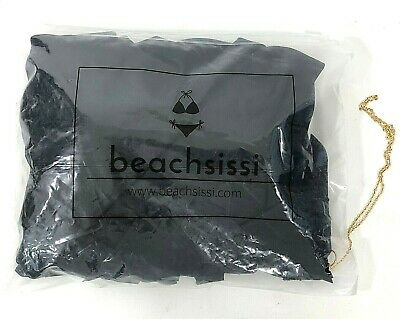 2b21dbf99a7 Beachsissi Womens Small One Shoulder One Piece Swimsuit Ruffle Detail Black  NWT