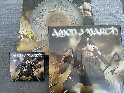 AMON AMARTH: Berserker DIE HARD Box SIGNED Digi-CD, 2 LP (MILKY CLEAR) Shield