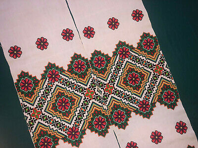 Vintage Embroidered Ukrainian folk towel rushnik handmade №838