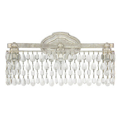 Capital Lighting Fixtures 8528AS-CR Blakely Bathroom Vanity Light Antique Silver
