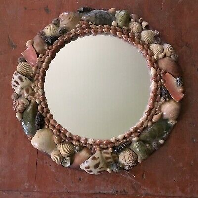 Antique Shell Decorated Mirror ~ Handmade