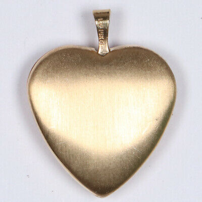 Heart Shaped Locket Gold Plated Pendant for Necklace Vintage