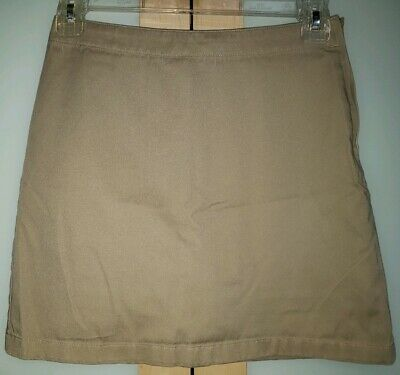 4fc81d3ab Size 10 Lands End Girls Light Khaki School Uniform Skort/Skirt/Shorts Side  Zip