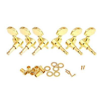 3X(Gold Sealed Guitar String Tuning Pegs Tuners Machine Heads 3L+3R New V8V3)