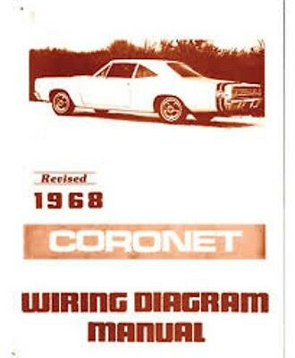 """1971 71 Dodge Charger Full Color Laminated Wiring Diagram 11/"""" X 17/"""""""
