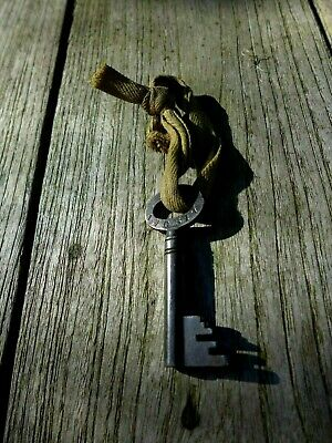 Antique Vintage Victorian Milne'rs Safe Key Liverpool & London Collector