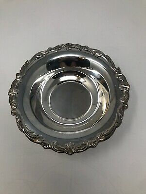 Vintage Towle Silverplate Bowl 2811 - Old Masters Sculptured - Gorgeous Scrolls