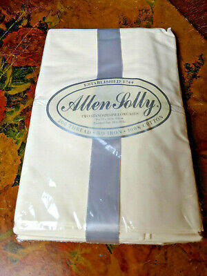 Vtg Allen Solly 2 Standard Pillowcases-200 Thread Count-Ecru-Cotton