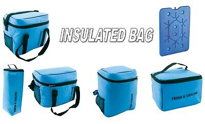 Insulated Cooler Cooling Cool Bag Box Freezing Food Picnic Bag Camping Block Ice
