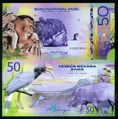 Malaysia, Bako National Park, Sarawak, 50 Ringgit, Private Issue Polymer, 2019