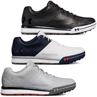 Under Armour Mens UA Tempo Hybrid 2 Spikeless Leather Lace up Golf Shoes