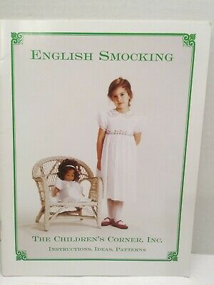 English Smocking The Childrens Corner Instructions Ideas Patterns New Old Stock