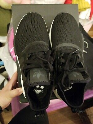 detailed look ad8de 119bc ADIDAS NMD R1 J Core Black White Mesh US Boys girl GS Youth ...