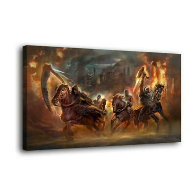 "12""x22""Four Horsemen Photos HD Canvas Print Painting Home Decor Wall Art Picture"