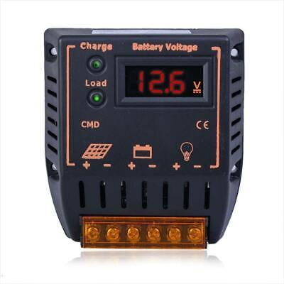 LCD 10A 12V/24V Autoswitch Solar Panel Battery Regulator Charge Controller DI