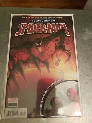 Spider Man 1 2019 Free Comic Book Day Marvel fcbd Carnage not stamped