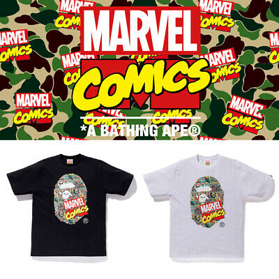 5eab616df MARVEL COMIC x BAPE A Bathing Ape Mens Head TEE T-Shirt Camo The Avengers