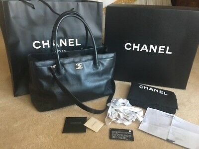 123d25168c8f Authentic Chanel Black Executive Cerf SHW with Serial Card,Dust  BagBox,Receipt