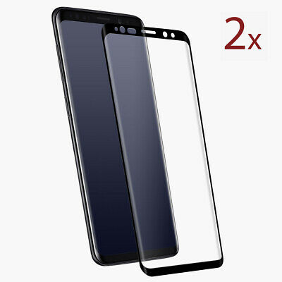 2x Panzer Folie Samsung Galaxy S9 Panzer Glasfolie Display Schutzfolie Curved 3D